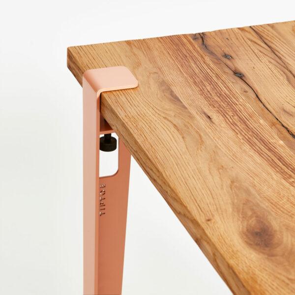 Plateau de bureau en bois ancien TIPTOE avec pied de table