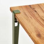 Plateau de table TIPTOE en bois ancien recyclé et pied de table