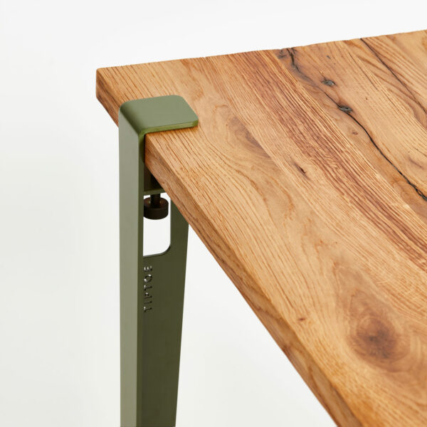 TIPTOE table top in reclaimed wood and table leg