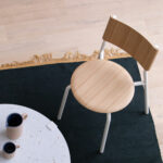 Chaise blanche et bois TIPTOE
