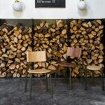 Chaise TIPTOE en bois et pieds en métal