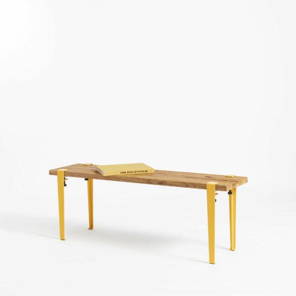 TIPTOE bench in reclaimed wood for living room