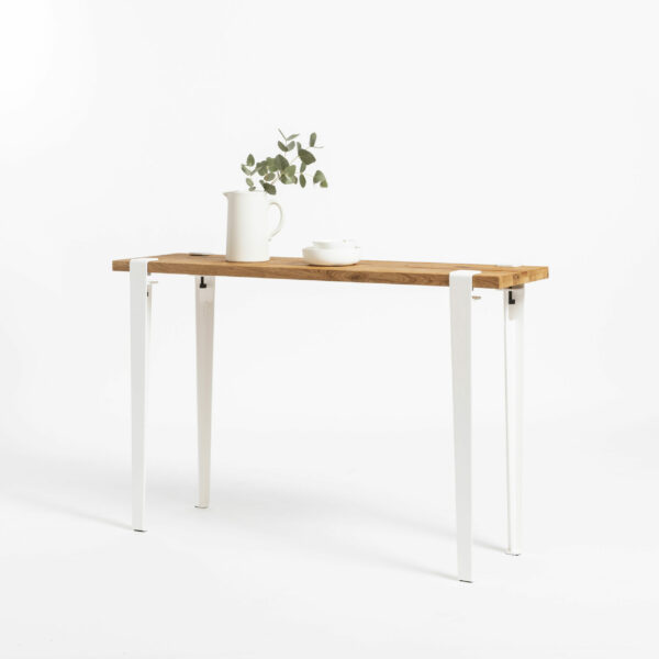 LIMA console in reclaimed wood TIPTOE with steel legs