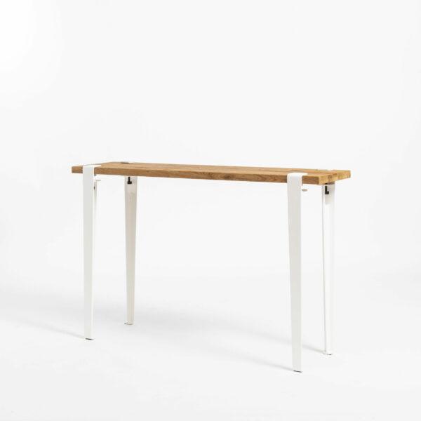 Console in reclaimed wood with TIPTOE steel legs