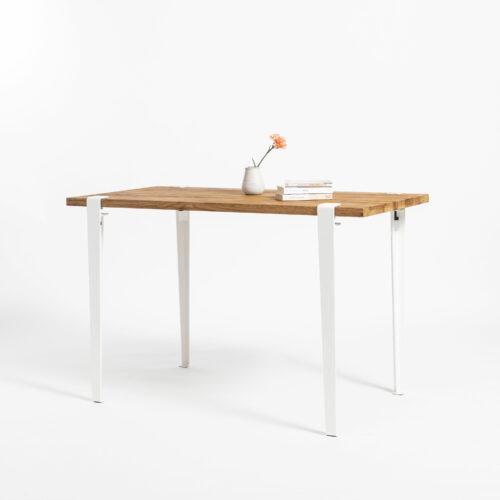 TIPTOE desk with reclaimed wood top and steel legs
