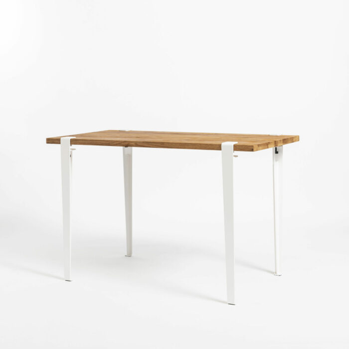 Desk in reclaimed wood and white legs TIPTOE