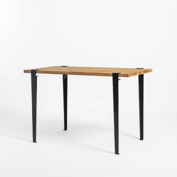 Bureau en bois ancien avec pieds de table en acier TIPTOE