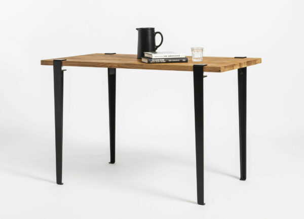 TIPTOE reclaimed wood desk with black steel legs