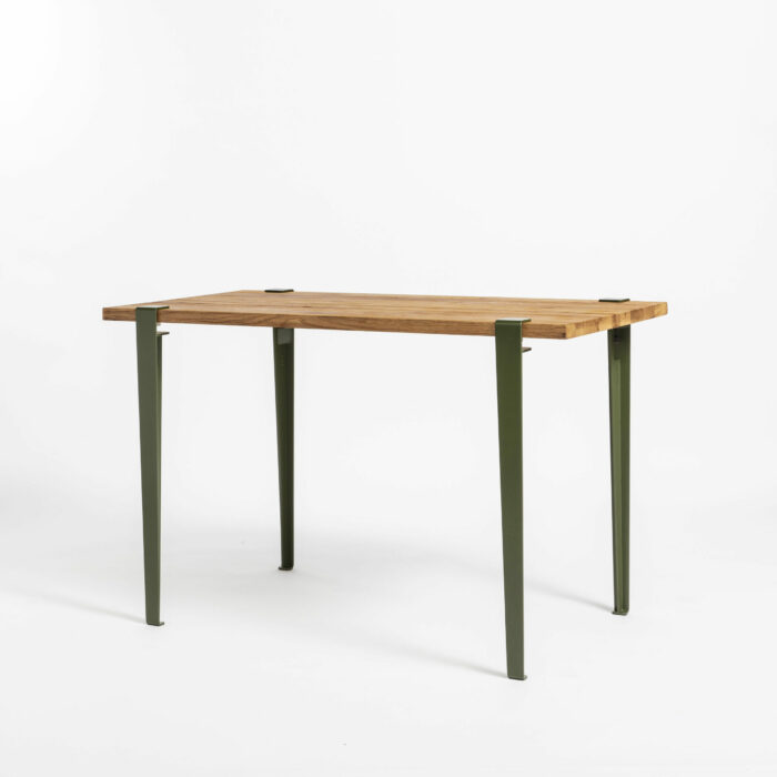Bureau en bois ancien recyclé TIPTOE avec pieds en acier