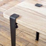 Modular table legs for TIPTOE bench in steel