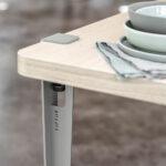 Pied de table et bureau TIPTOE en acier coloré