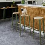Tabouret haut de bar TIPTOE en bois et acier