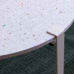 Pied de table pour table basse ou banc en acier blanc TIPTOE