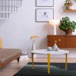Table basse en acier et plastique recyclé blanc TIPTOE