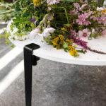 Pied de table basse en métal noir TIPTOE