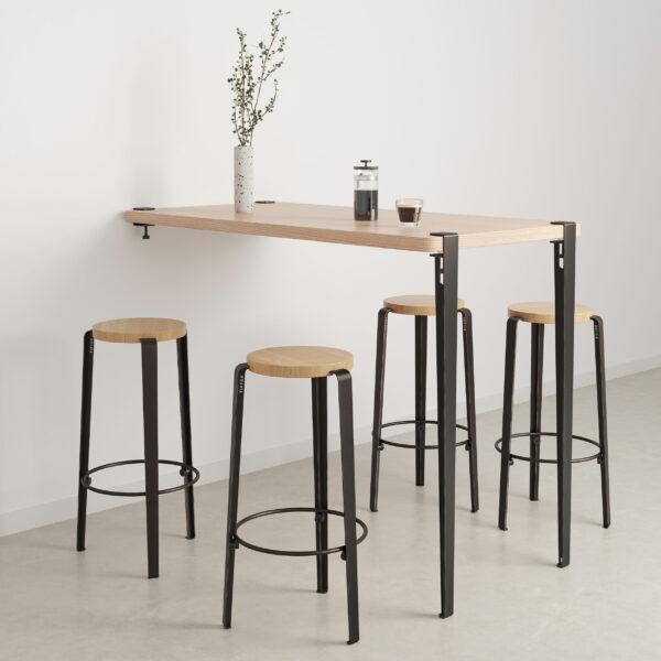 Table bar murale - hauteur 110cm