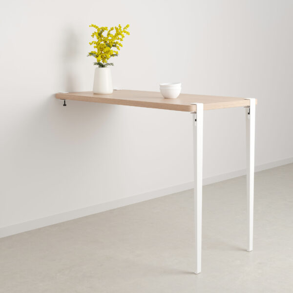 Table bar murale – hauteur 110cm – bois éco-certifié