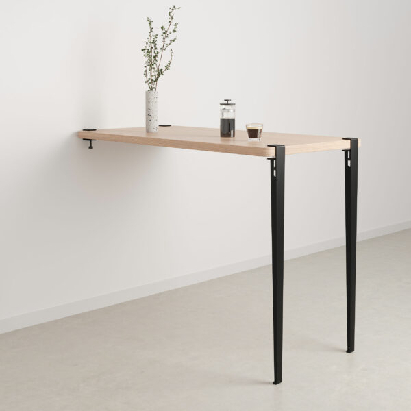 Wall-mounted bar table – height 110cm – eco-certified wood