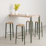 Table bar murale - hauteur 110cm - bois éco-certifié