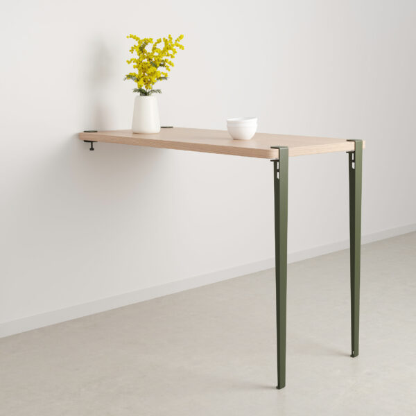 Wall-mounted bar table - height 110cm - eco-certified wood