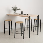 MI LOU mid-high stool - solid wood