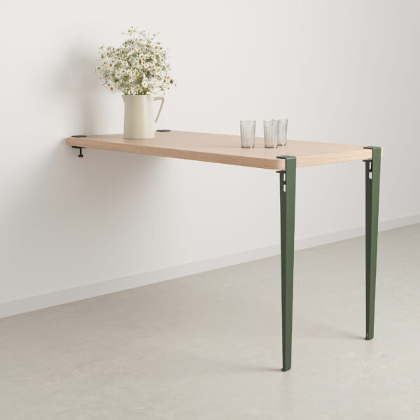 Wall-mounted dining table - height 90cm - eco-certified wood