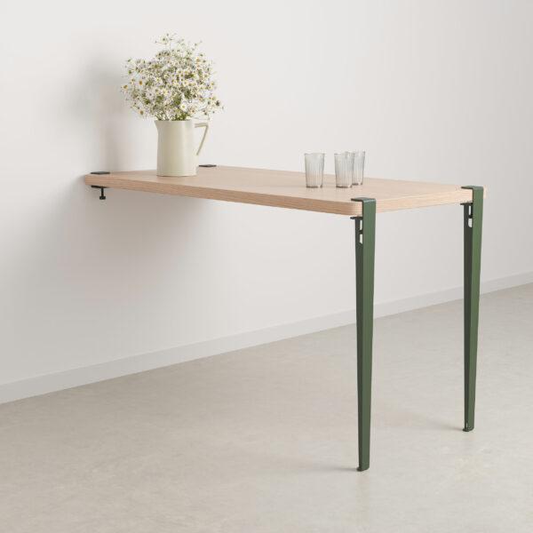 Table haute murale - hauteur 90cm - bois éco-certifié