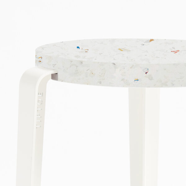 LOU stool in recycled plastic VENEZIA