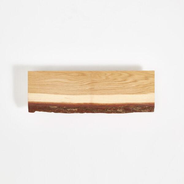 Etagère murale en bois brut avec écorce - 90x20cm