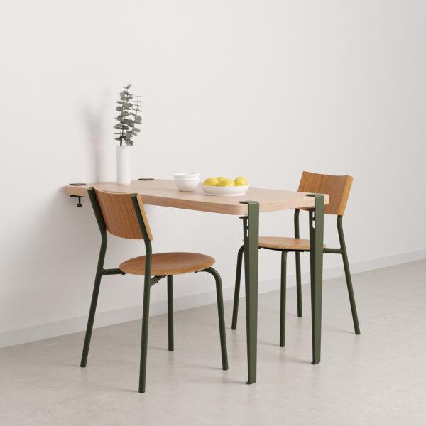 table à manger murale vert