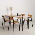 Wall-mounted dining table - eco-certified wood