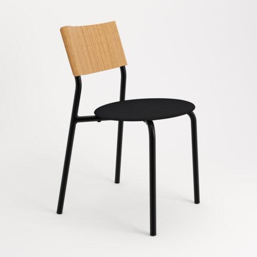 chaise tissu et textile vert de face