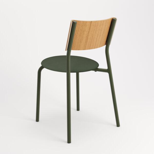 chaise tissu et textile vert de dos