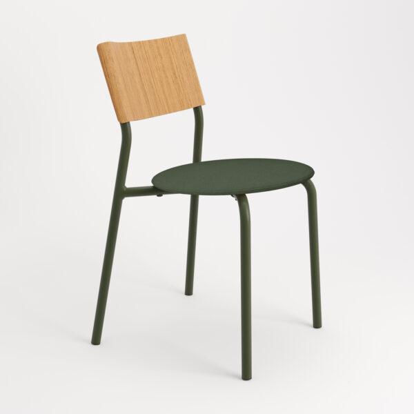 chaise tissu et textile vert