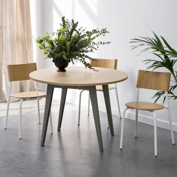 Table ronde NEW MODERN – bois éco-certifié