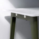 NEW MODERN dining table - recycled plastic