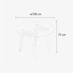 Table ronde NEW MODERN – plastique recyclé