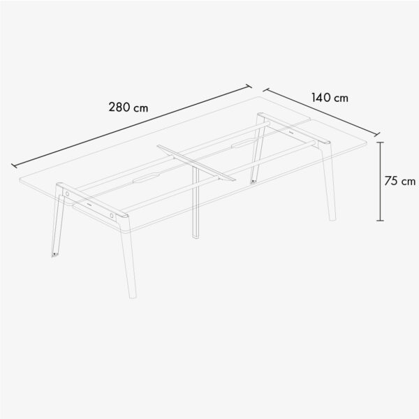 Bureau open-space NEW MODERN 4 places – multiplis blanc