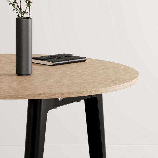Table de réunion ronde NEW MODERN – bois éco-certifié