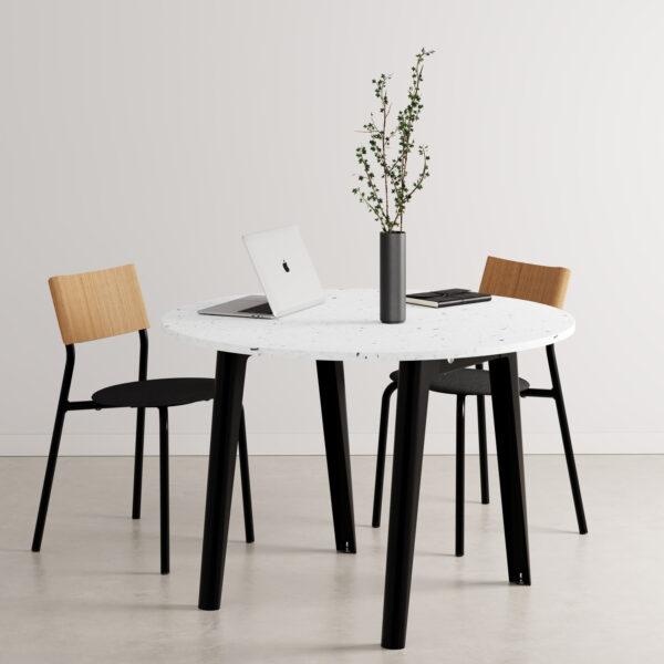 Table de réunion ronde NEW MODERN – plastique recyclé