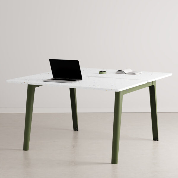 Bureau open-space NEW MODERN 2 places - plastique recyclé