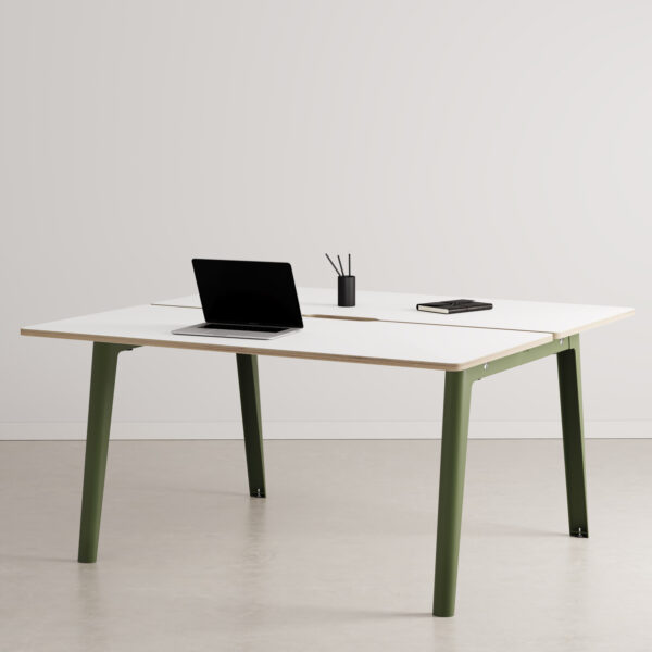 Bureau open-space NEW MODERN 2 places - multiplis blanc