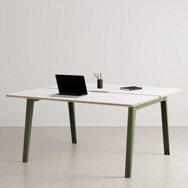 Bureau open-space NEW MODERN 2 places – multiplis blanc