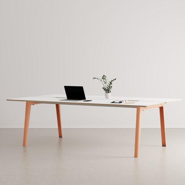 Bureau open-space NEW MODERN 4 places - multiplis blanc