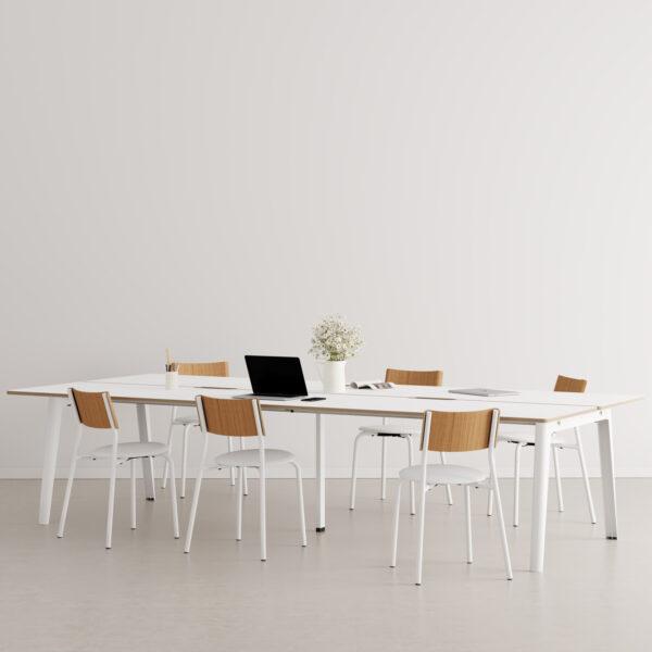 Bureau open-space NEW MODERN 6 places - multiplis blanc