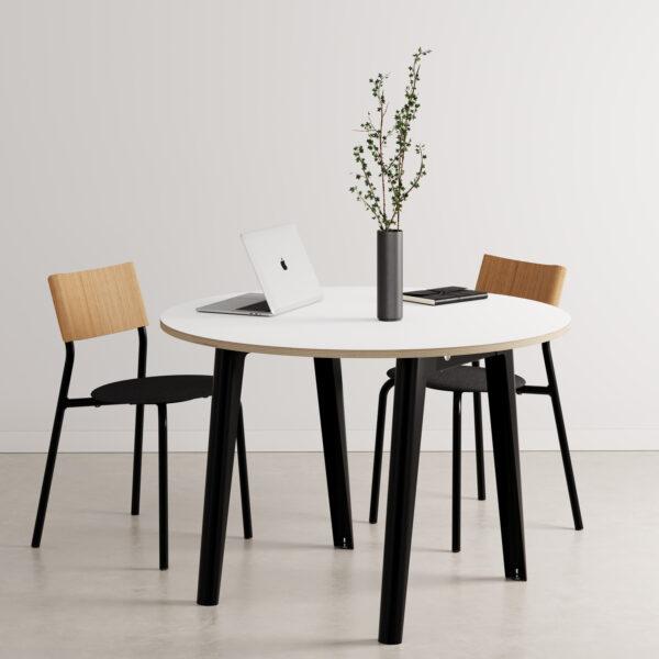 Table de réunion ronde NEW MODERN - multiplis blanc